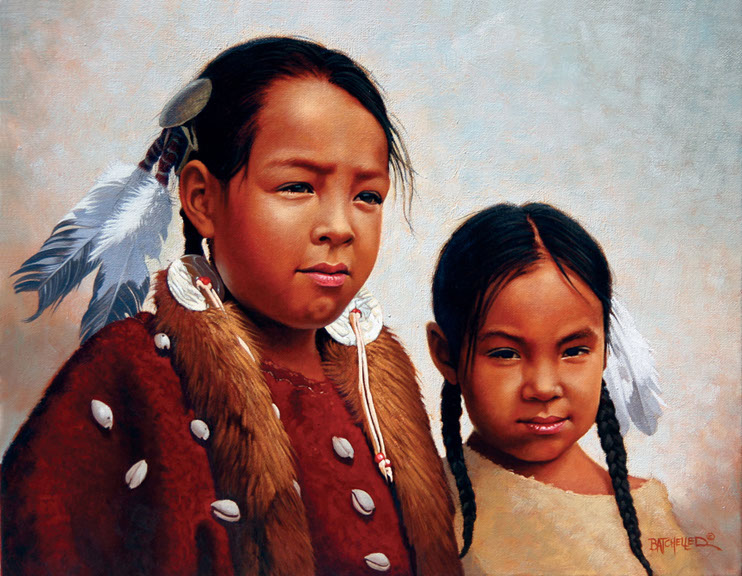 illustration-Cartoons_Native american children-Keith Batcheller