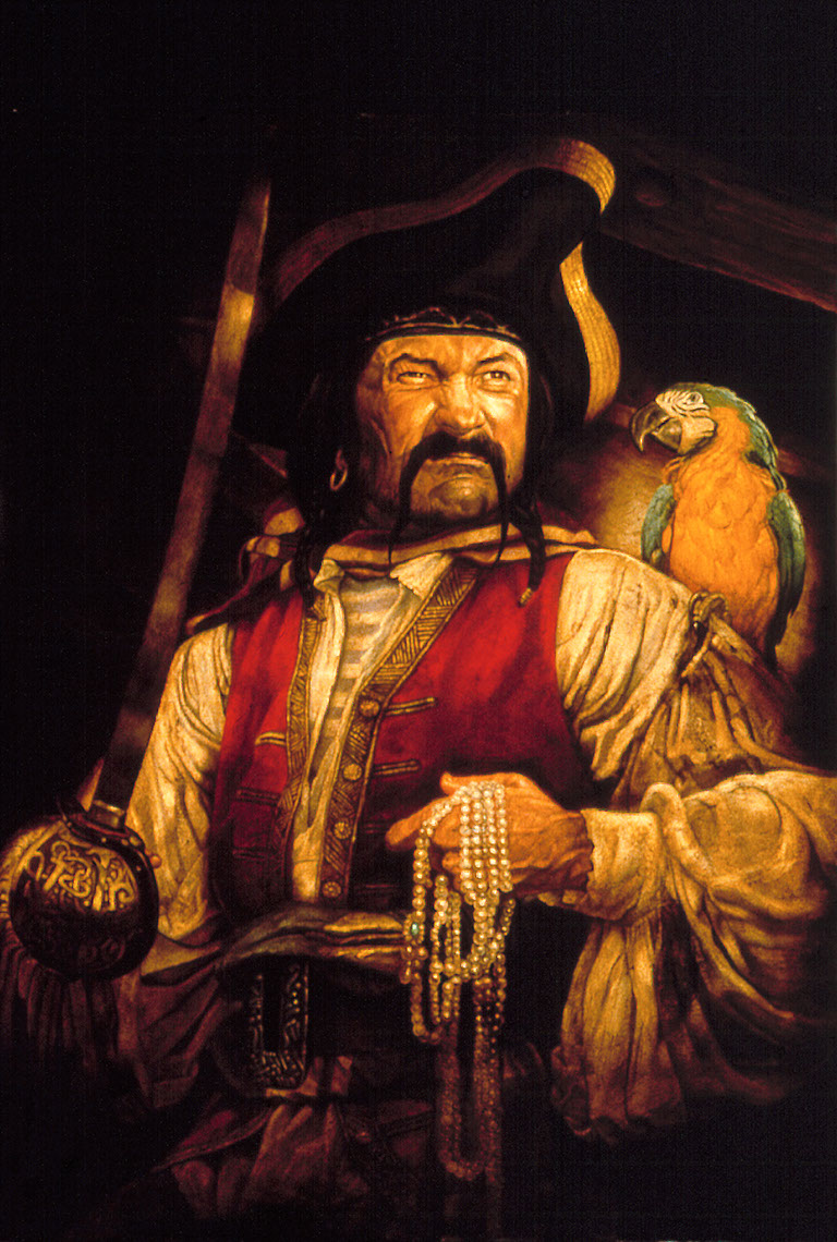 illustration-Cartoons_Pirate and Parrot-Chris Hopkins