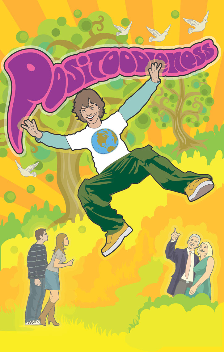 illustration-Cartoons_Positoodleness hippie kid-Jon Rogers