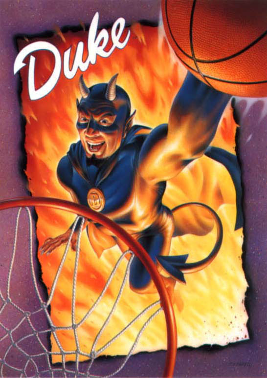 illustration-Cartoons and Characters_Duke devil dunking-Impressa