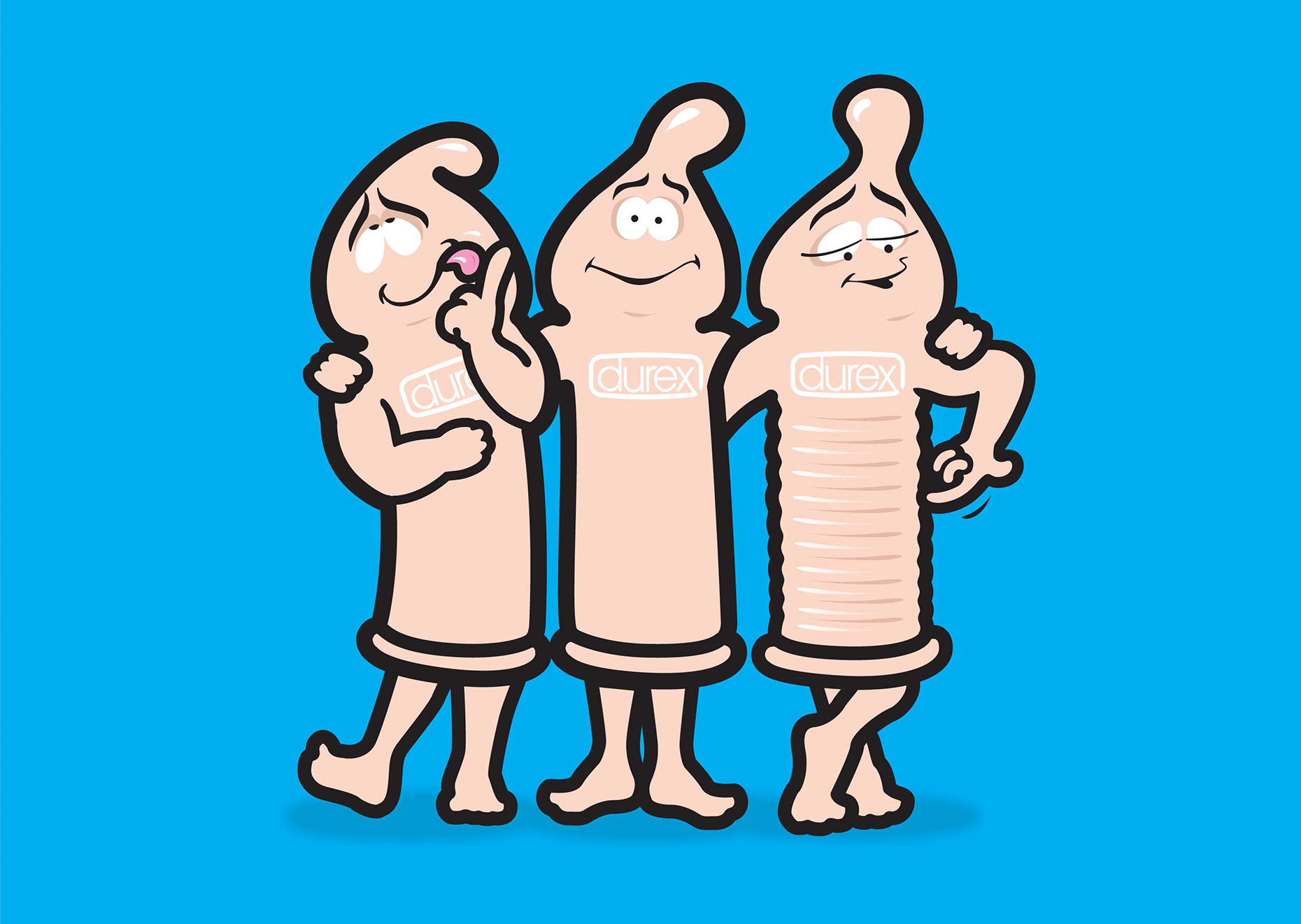 illustration-Cartoons and Characters_Durex Condoms-Jon Rogers