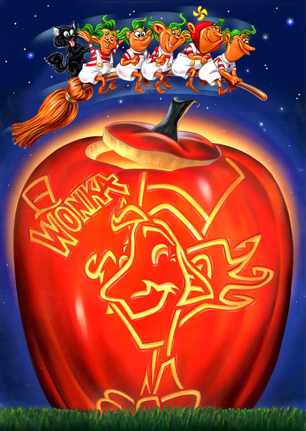 illustration-Cartoons and Characters_Wonka Jack O Lantern Halloween-Impressa