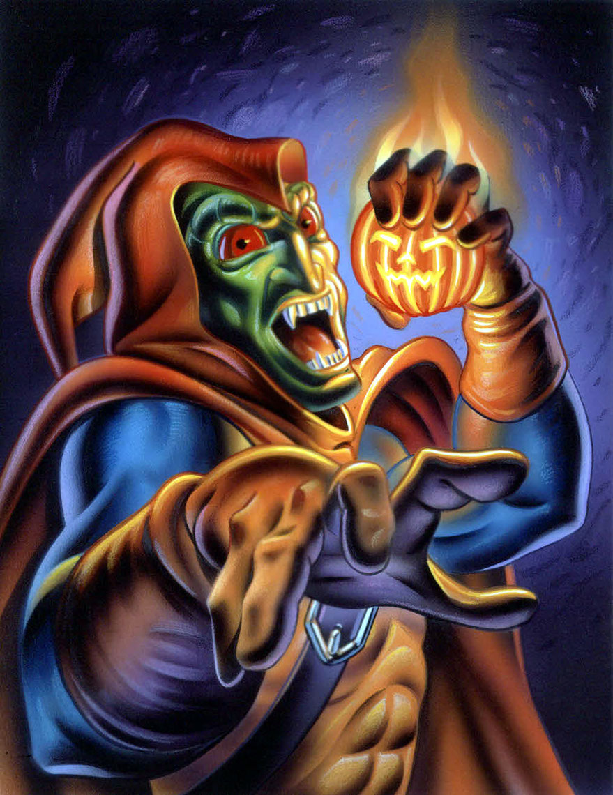 illustration-Comics_Green Goblin ready to throw a pumpkin-Impressa