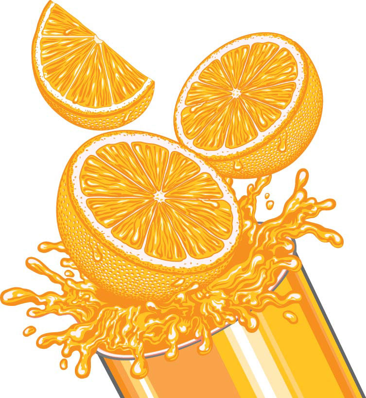 illustration-Food_Orange Juice-Garth Glazier