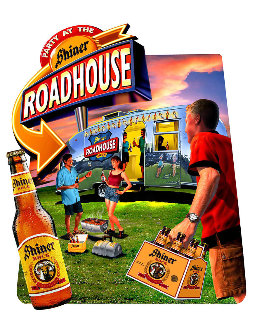 illustration-Food and Packaging_Shiner beer roadhouse-Impressa