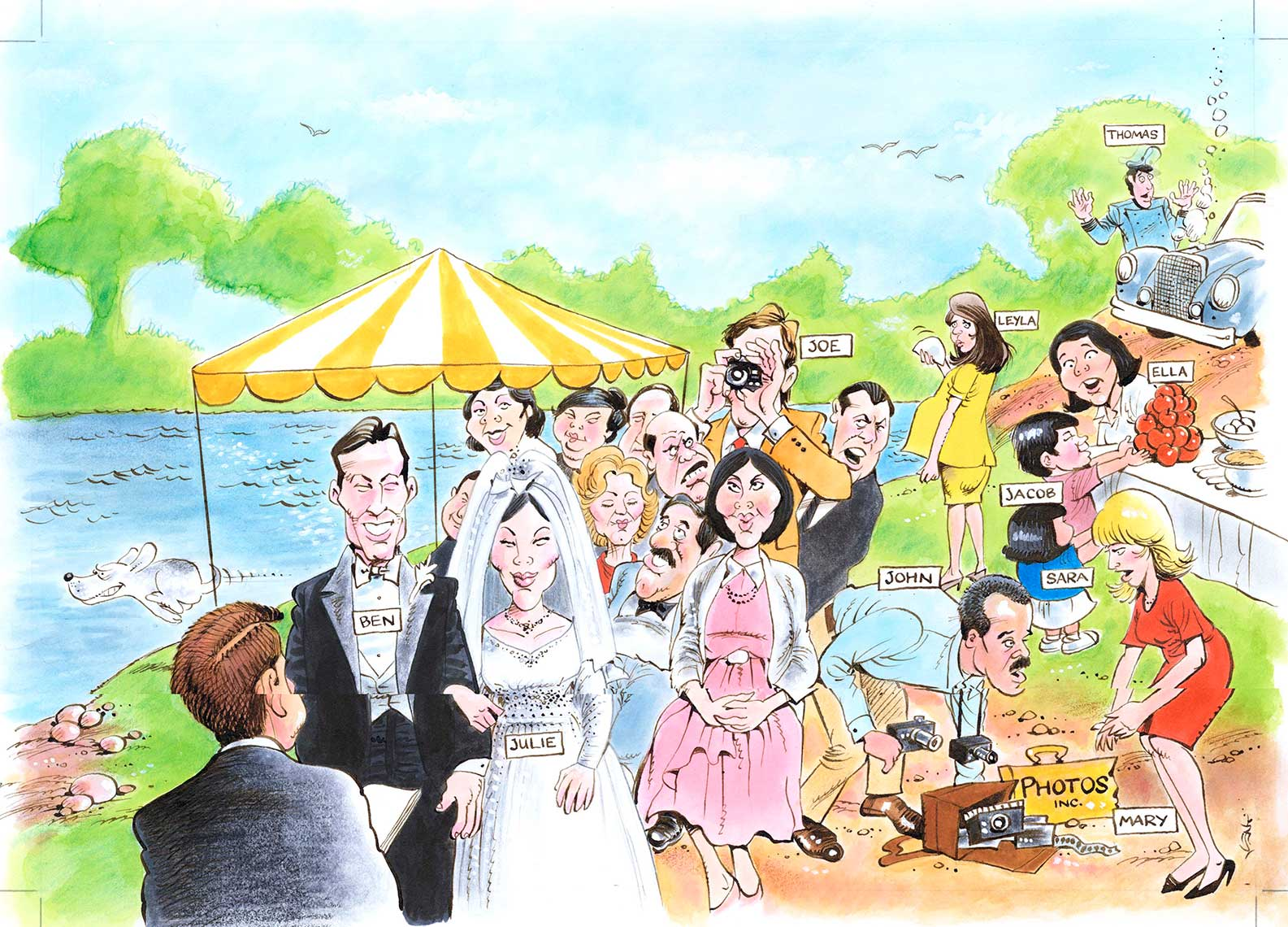 illustration-Gamble_Outdoor_Wedding-Kent Gamble