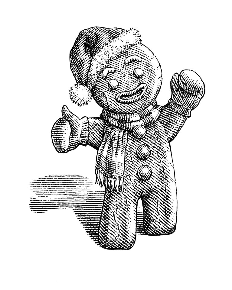 illustration-Gingerbread-Man-by-Dave Hopkins
