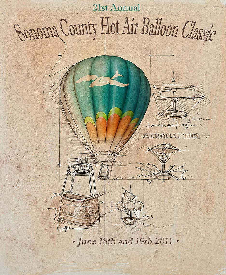 illustration-Icons_Sonoma County Hot Air Balloon-Bonnie Hofkin