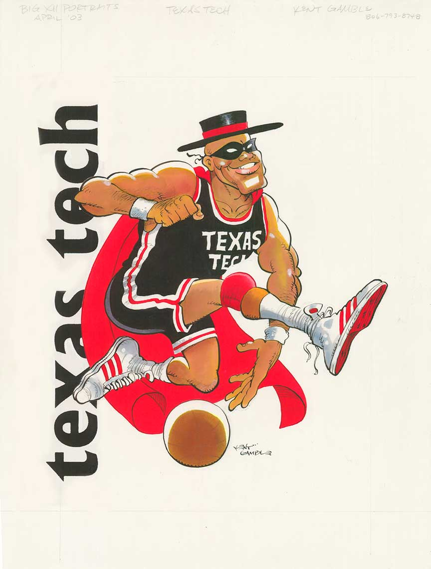 illustration-Icons_Texas-Tech-Basketball-Kent Gamble
