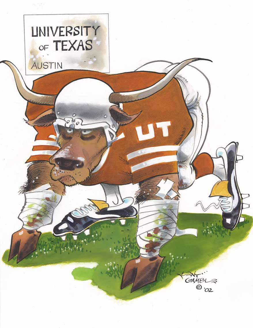 illustration-Icons_University-of-Texas-Austin-football-Kent Gamble