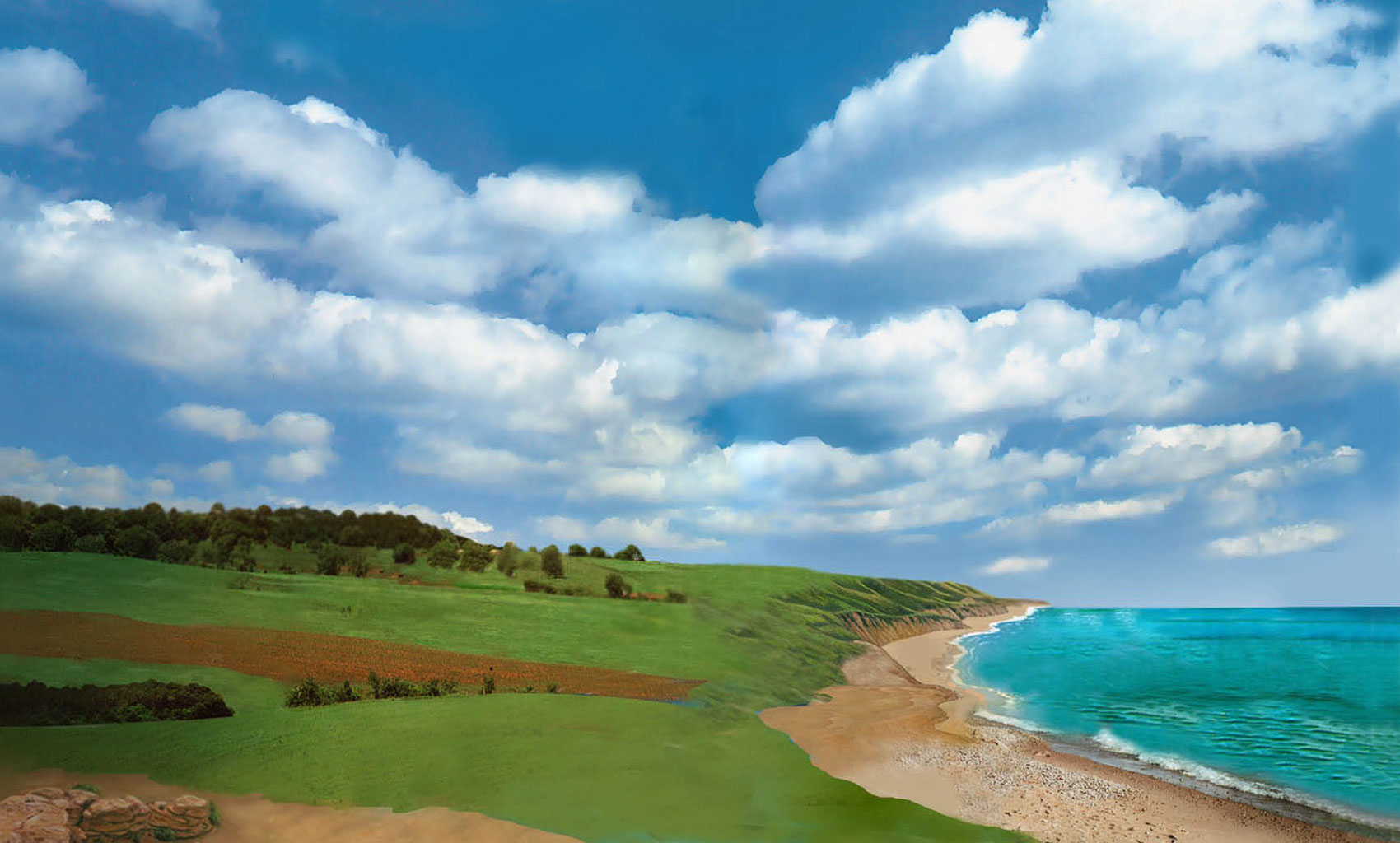 illustration-Landscapes_Coastline clouds-Impressa