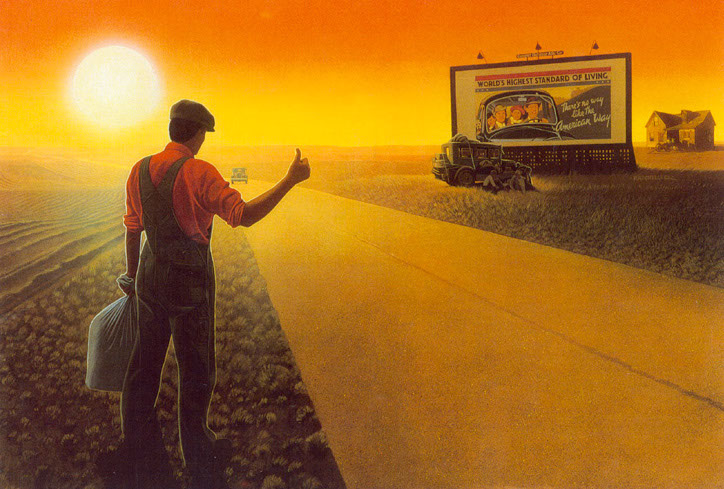 illustration-Landscapes_Hitchhiker-Keith Batcheller