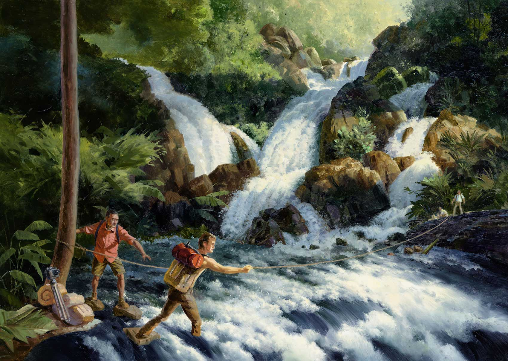 illustration-Landscapes_River-rapids-in-the-woods-Mike-Jaroszko