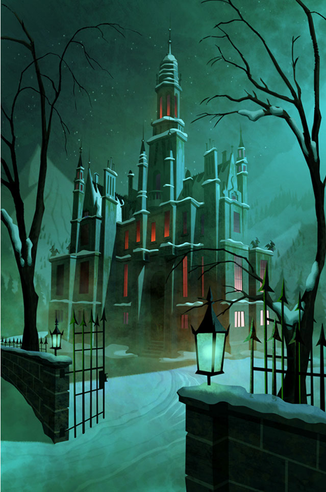 illustration-Landscapes_Spooky library-Shawn McKelvey