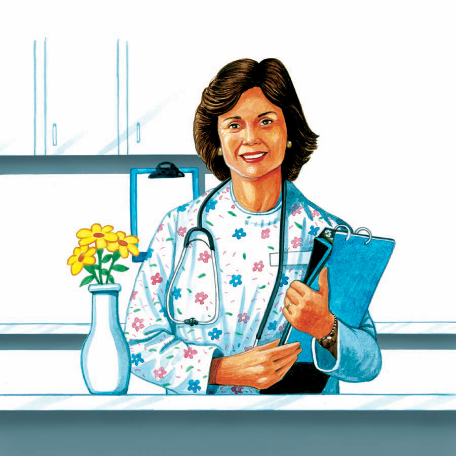 illustration-Medical_Friendly doctor-Keith Batcheller