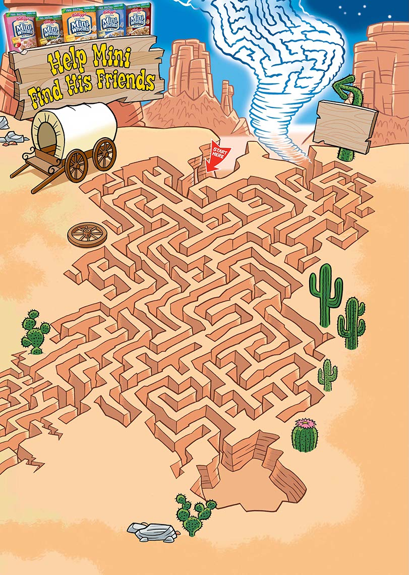 illustration-Mini-Wheats_Western Canyon Desert Maze-Geo Parkin