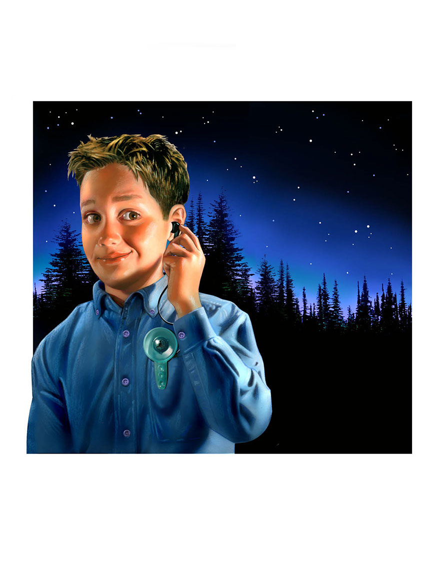 illustration-People_Boy using sonic ear toy outside at night-Impressa