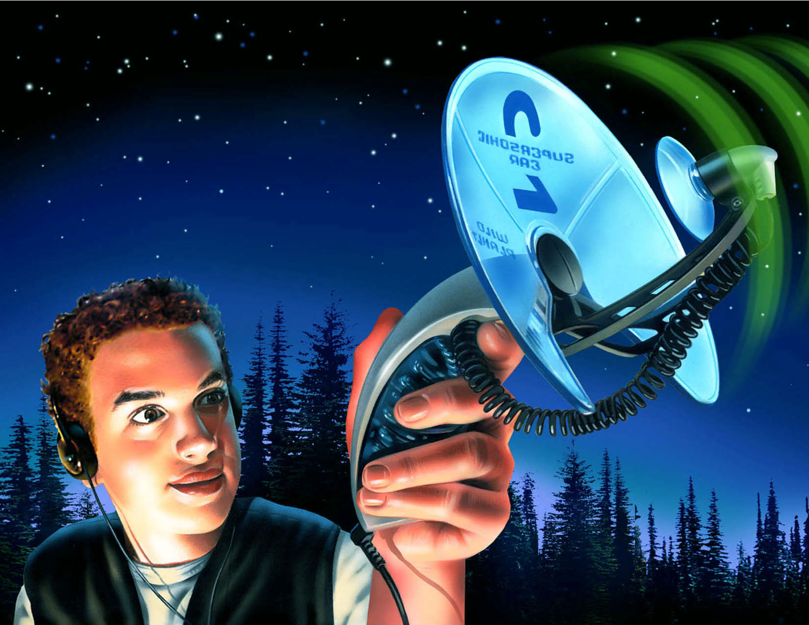 illustration-People_Boy using supersonic ear outside at night-Impressa