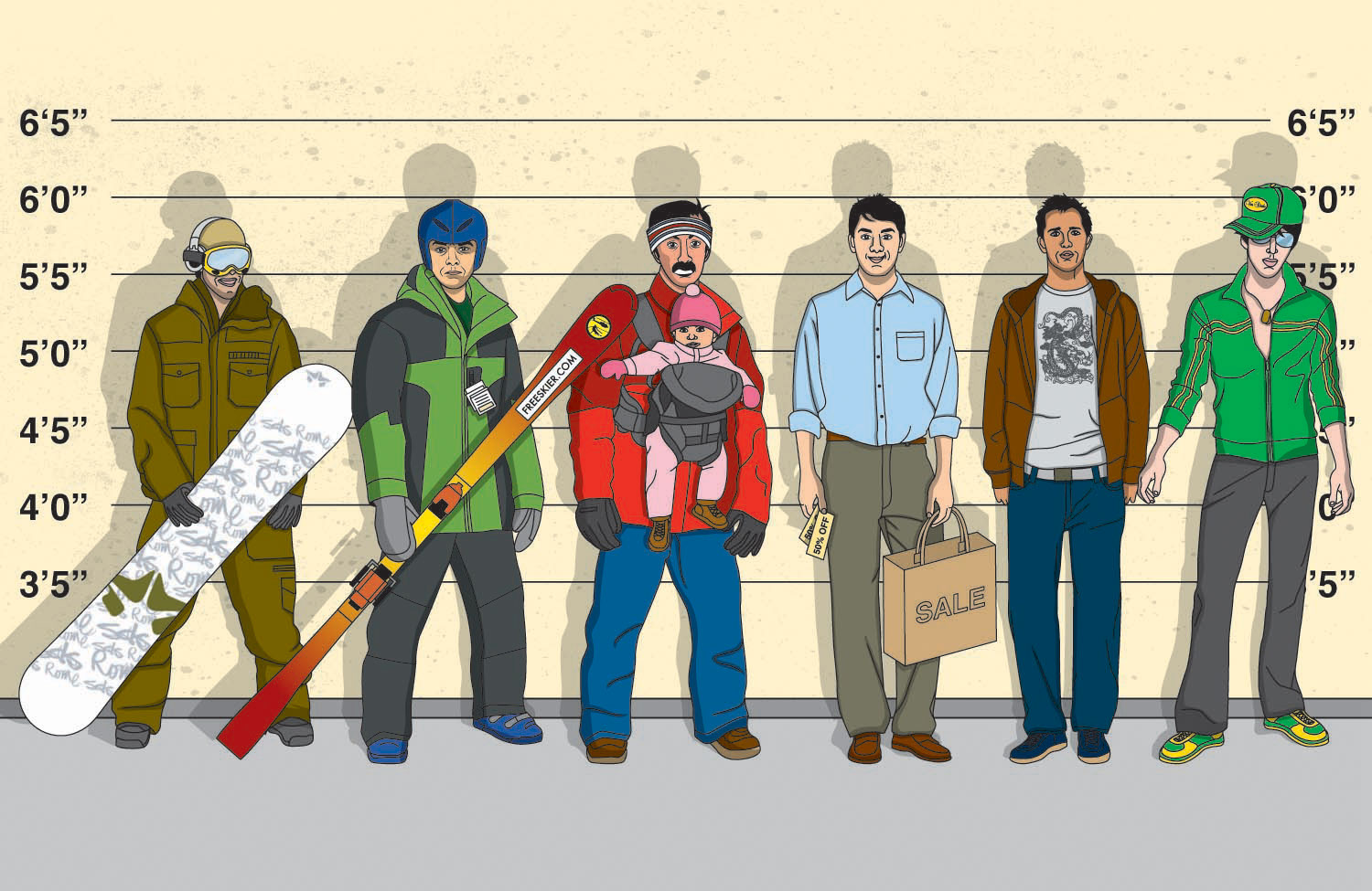 illustration-People_How_to_hallie_hansen_snow_boarders_in_clothing_line_up-Jib Hunt