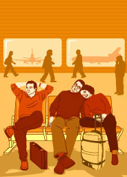 illustration-People_How_to_people-sitting-in-airport-waiting-lounge-Jib Hunt