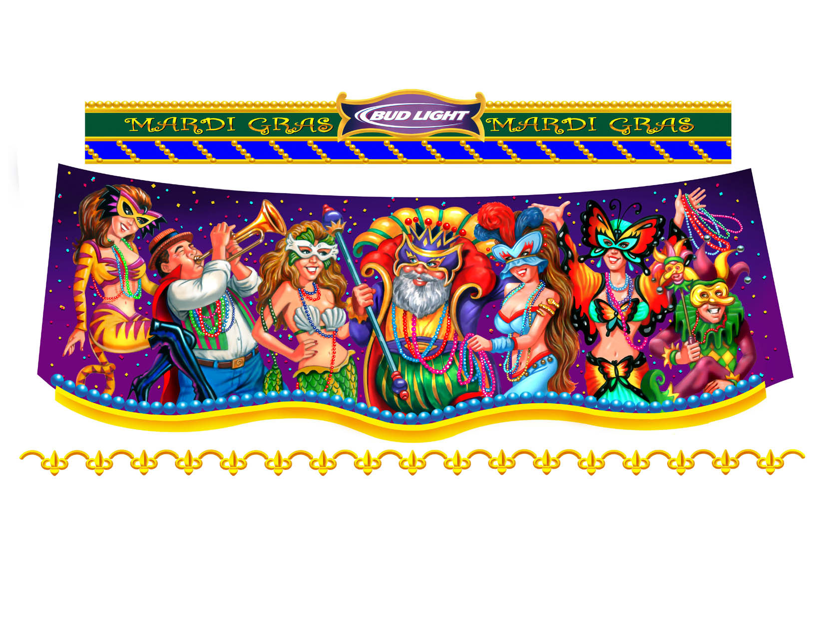 illustration-People_Mardi Gras celebration-Impressa