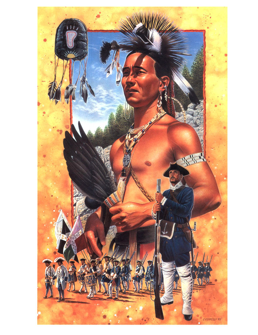 illustration-People_Native american colonization scene-Impressa