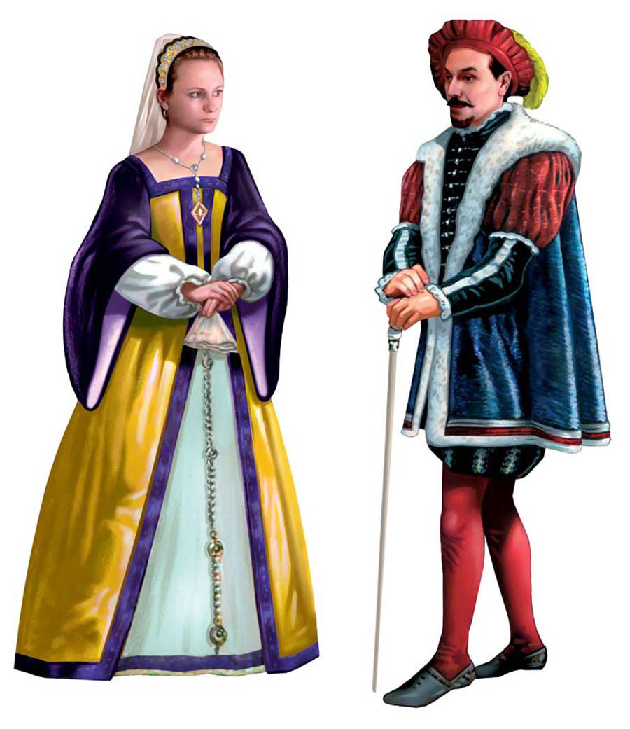 illustration-People_Nobility man and woman-Impressa