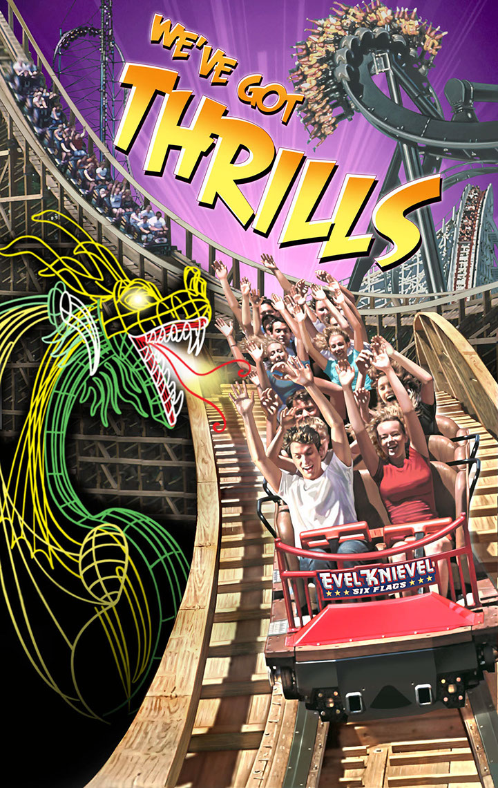 illustration-People_Six Flags dragon coaster-Impressa