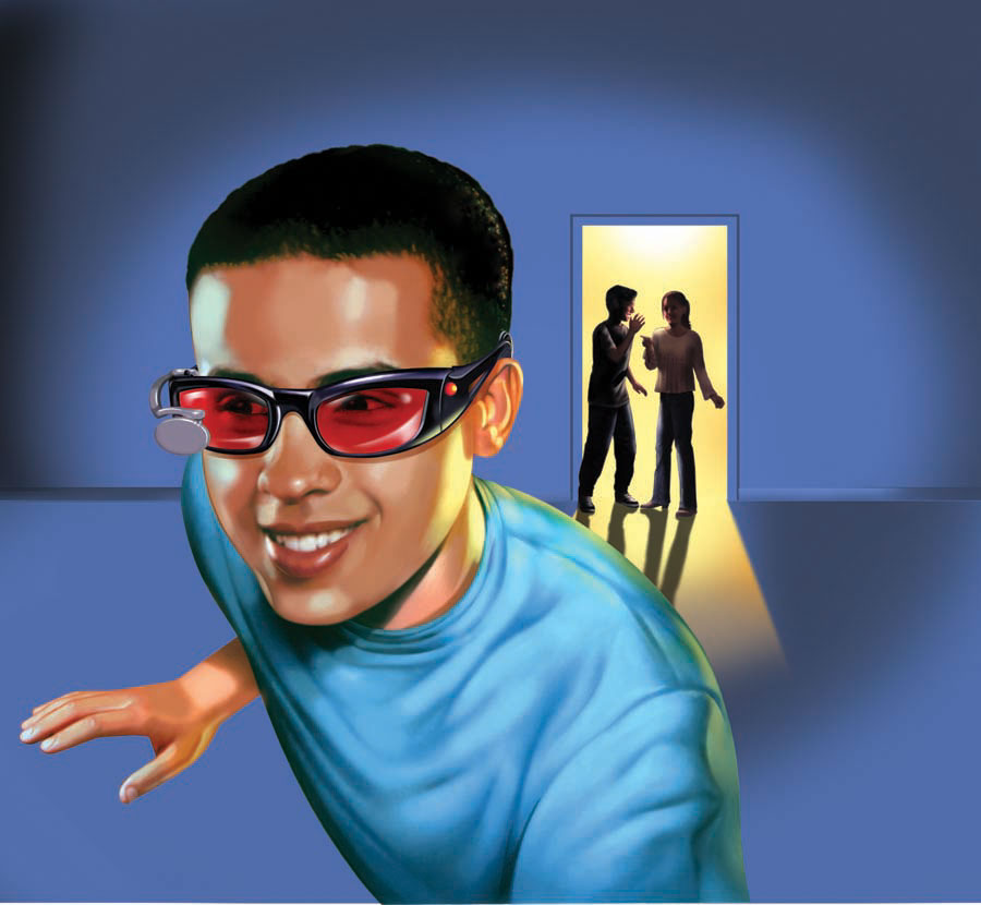 illustration-People_Spy glasses and friends-Impressa
