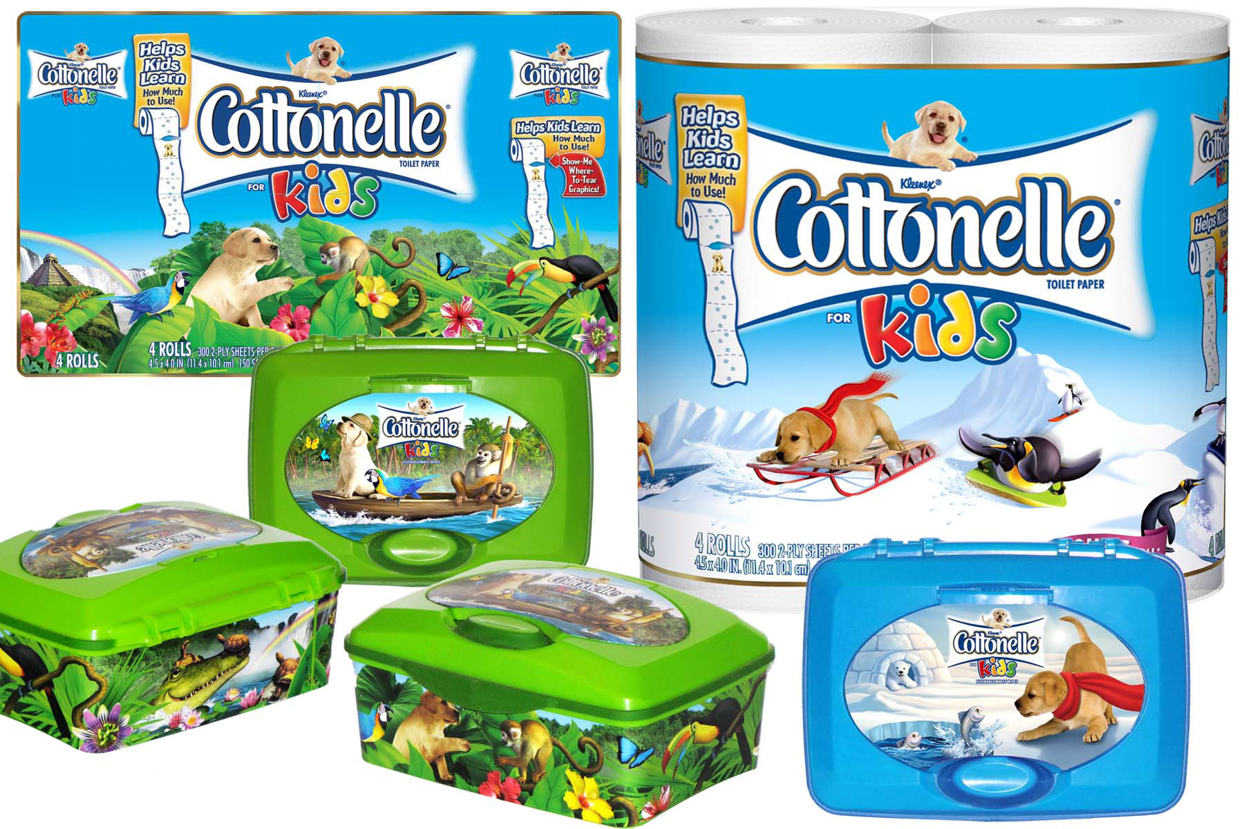 illustration-Photo-Imaging_Products and Still Life_Cottonele wipes-Jerry LoFaro