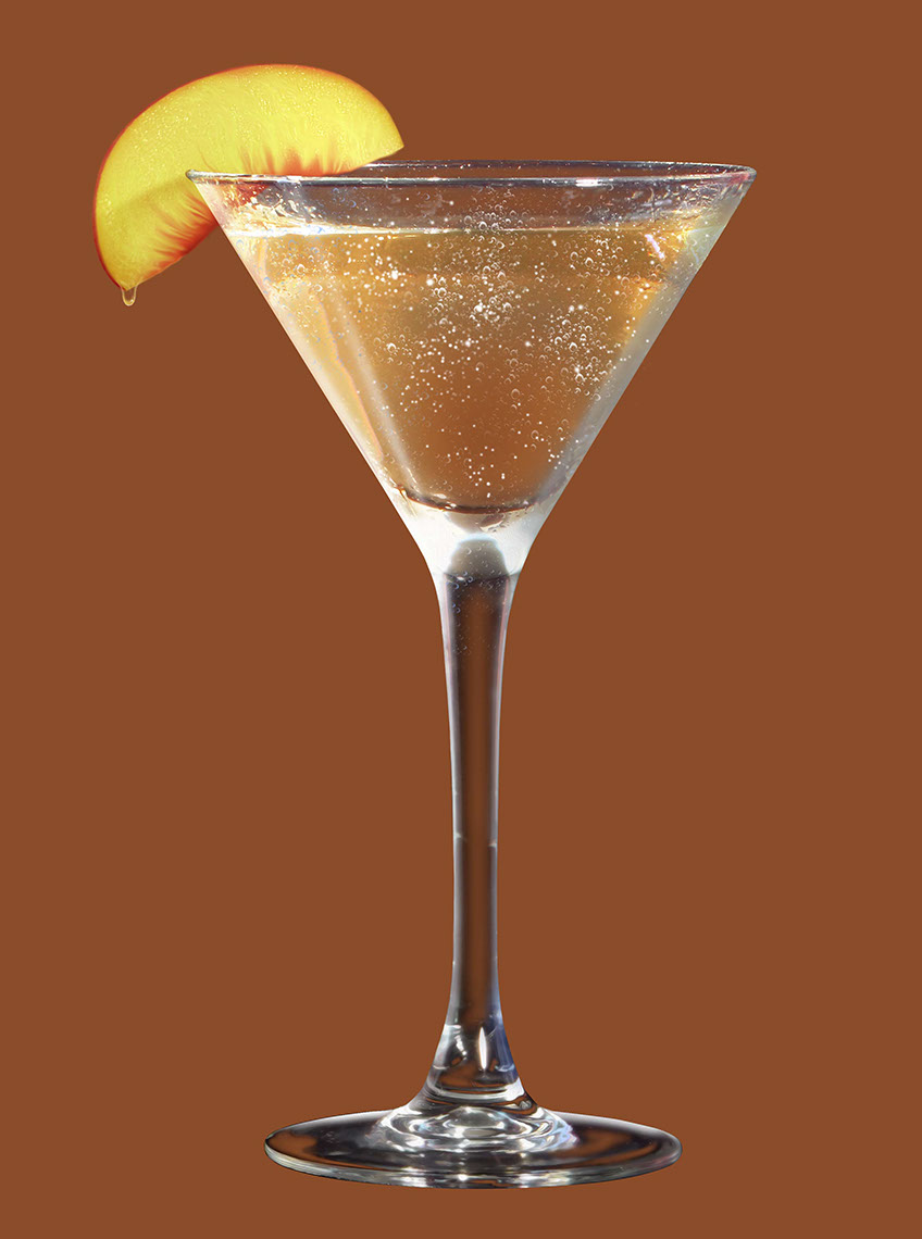 illustration-Photo-Imaging_Products and Still Life_Peach martini-Jerry LoFaro