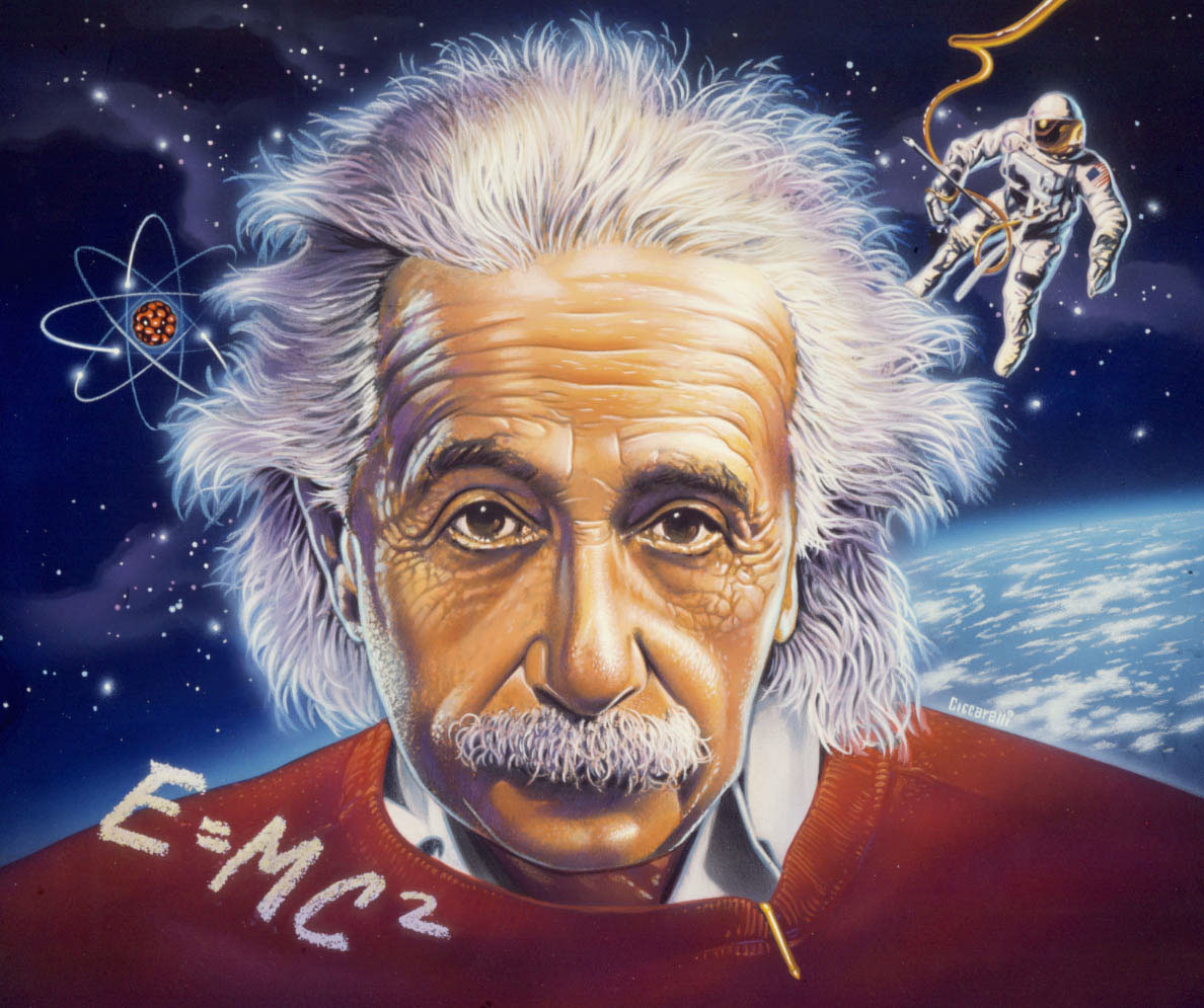 illustration-Portraits_Albert Einstein in space-Impressa