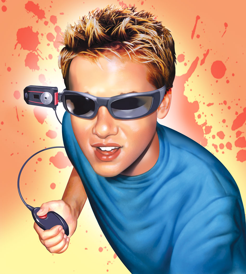 illustration-Portraits_Boy using spy glasses-Impressa