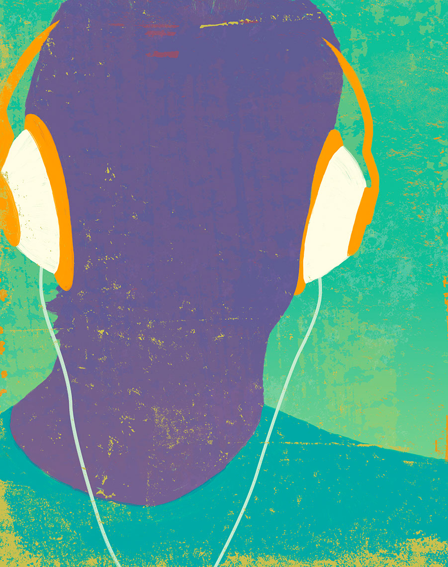 illustration-Portraits_Headphone-Don Bishop