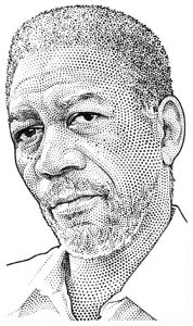 illustration-Portraits_Morgan Freeman-Randy Glass
