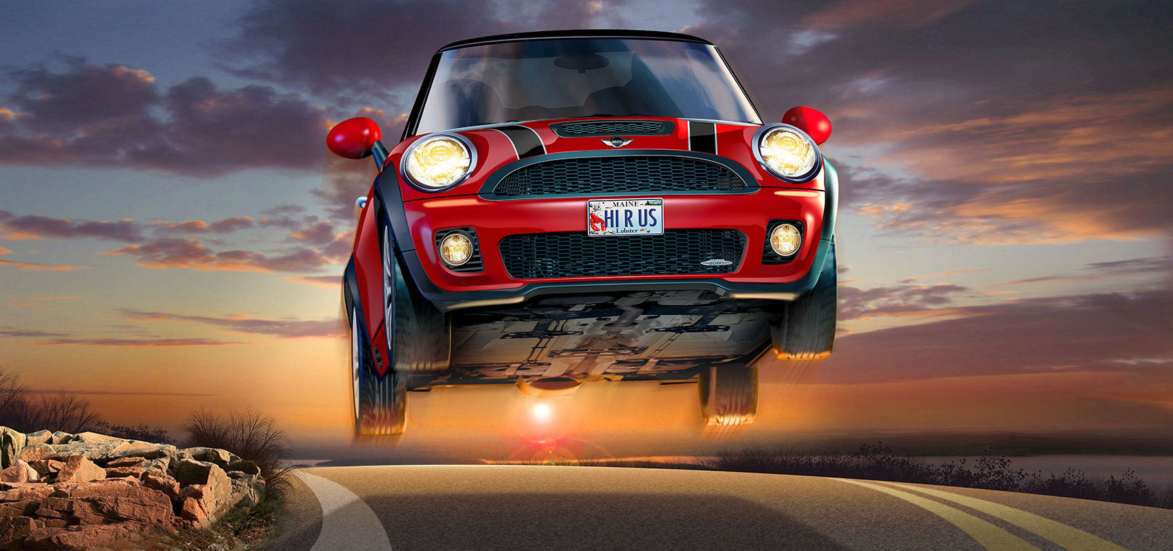 illustration-Products_Jumping mini cooper-Tony Randazzo