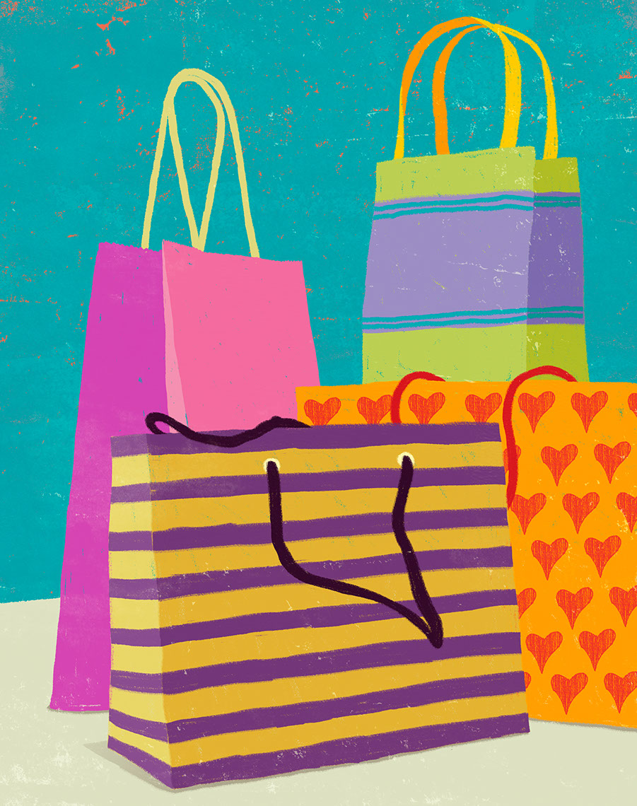 illustration-Products_Shopping bags-Don Bishop