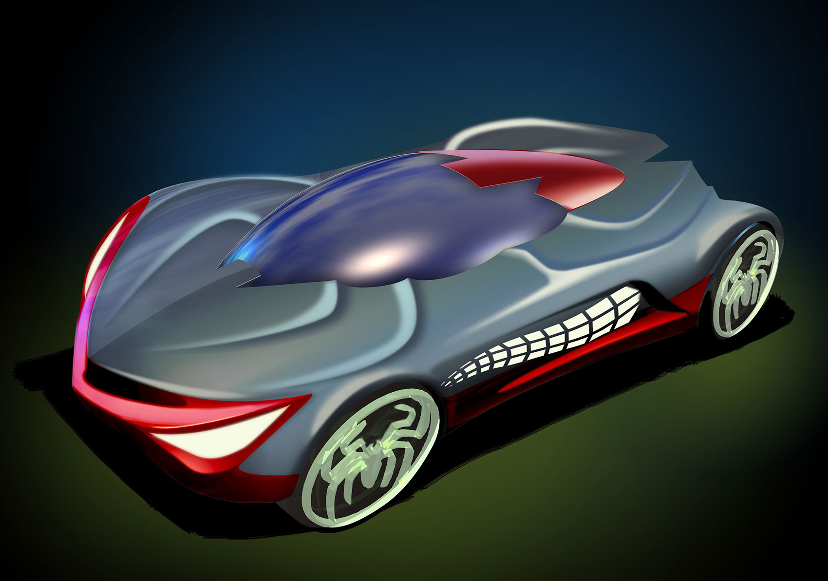illustration-Products_Spirderman Car-Tony Randazzo
