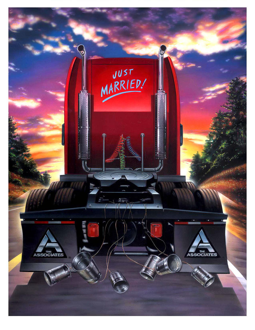 illustration-Products and Still Life_Just married truck-Impressa
