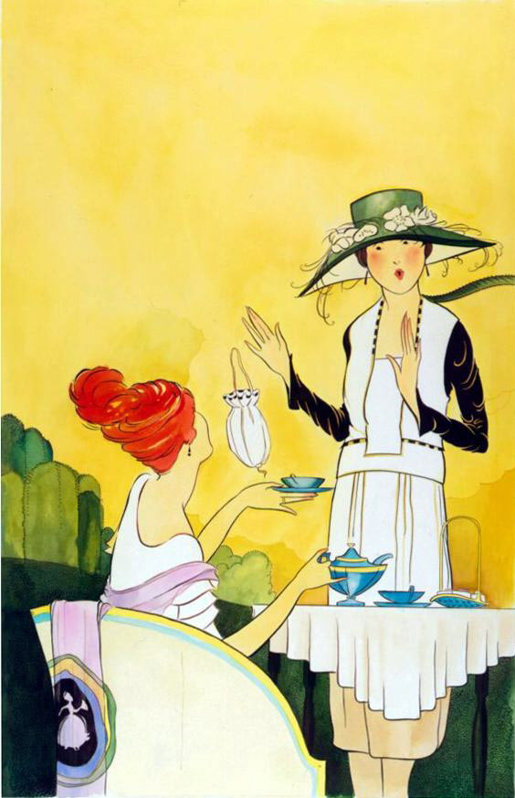 illustration-Retro_20s tea party poster-Pastiche