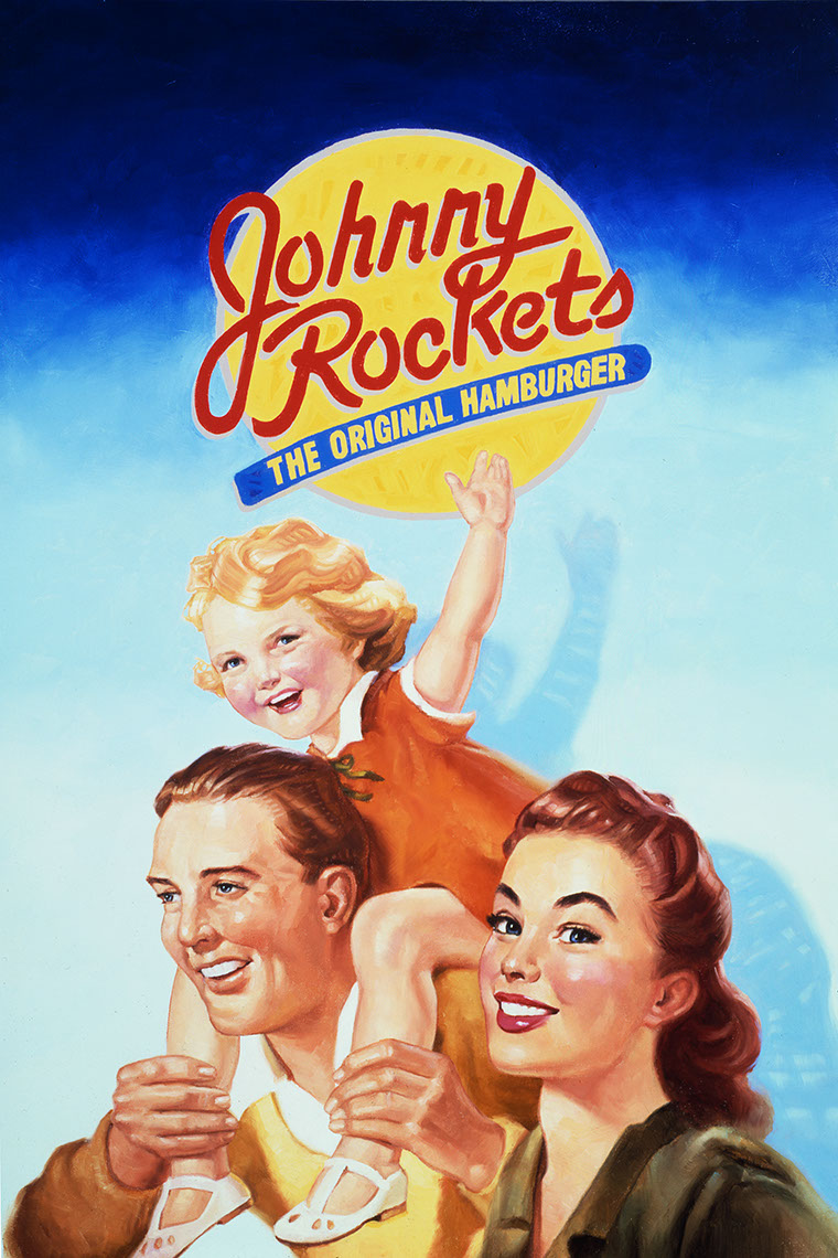 illustration-Retro_Johnny Rockets Family-Chris Hopkins