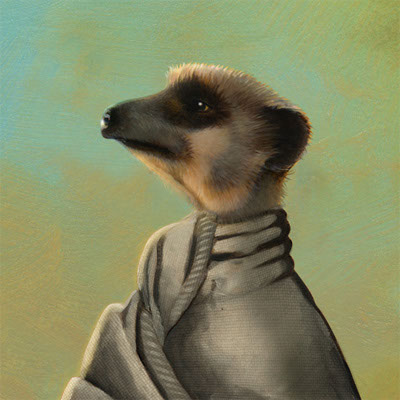 illustration-Retro_Meerkat Alek-Pastiche