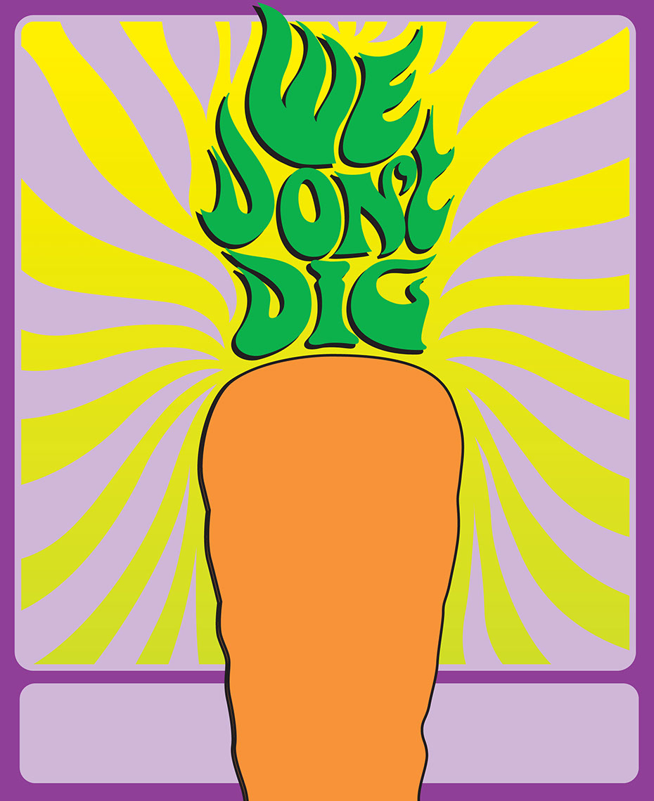 illustration-Retro_Psychedelic carrot we don