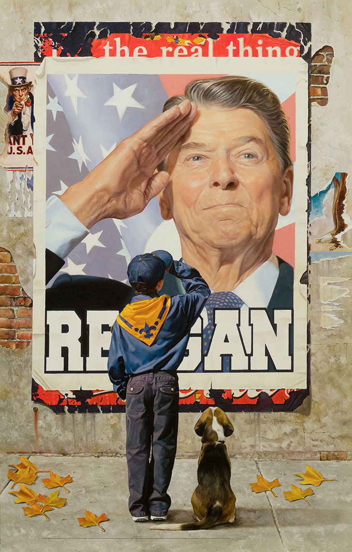 illustration-Retro_Ronald Reagan Poster-Chris Hopkins