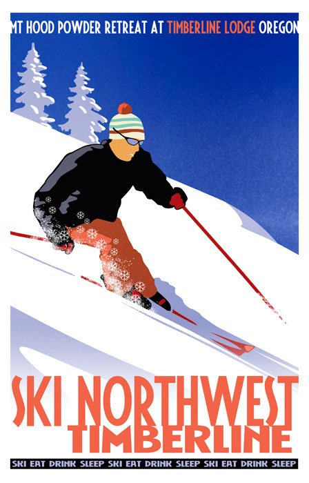illustration-Retro_Ski Northwest Timberline-Don Bishop