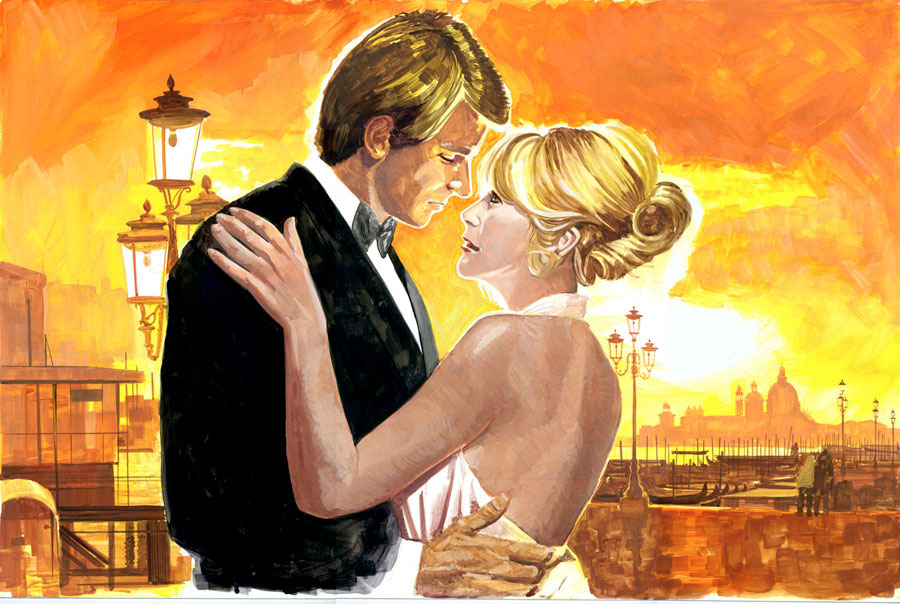 illustration-Retro_Sunset romance-Pastiche