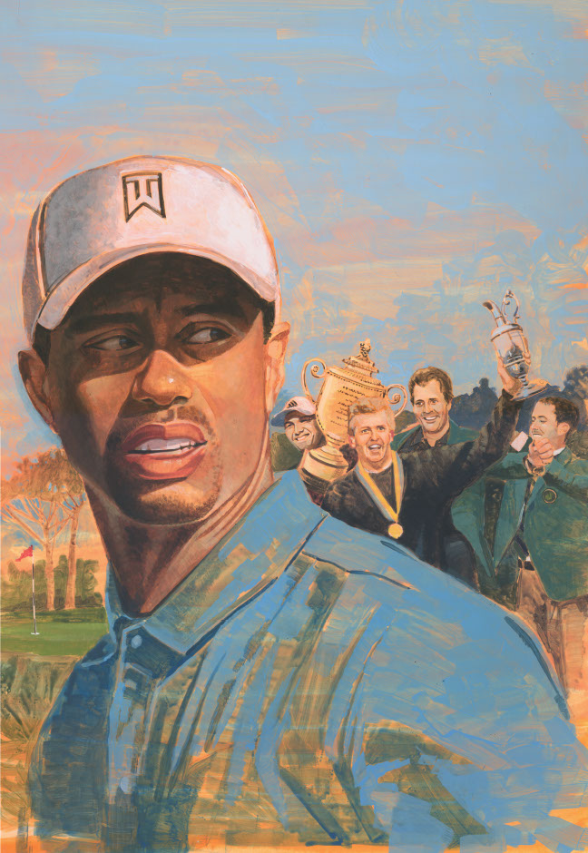 illustration-Retro_Tiger Woods-Pastiche