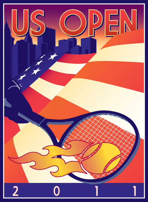 illustration-Retro_US Open 2011-Don Bishop