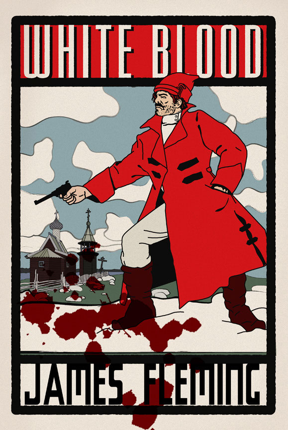 illustration-Retro_White blood james fleming poster-Pastiche