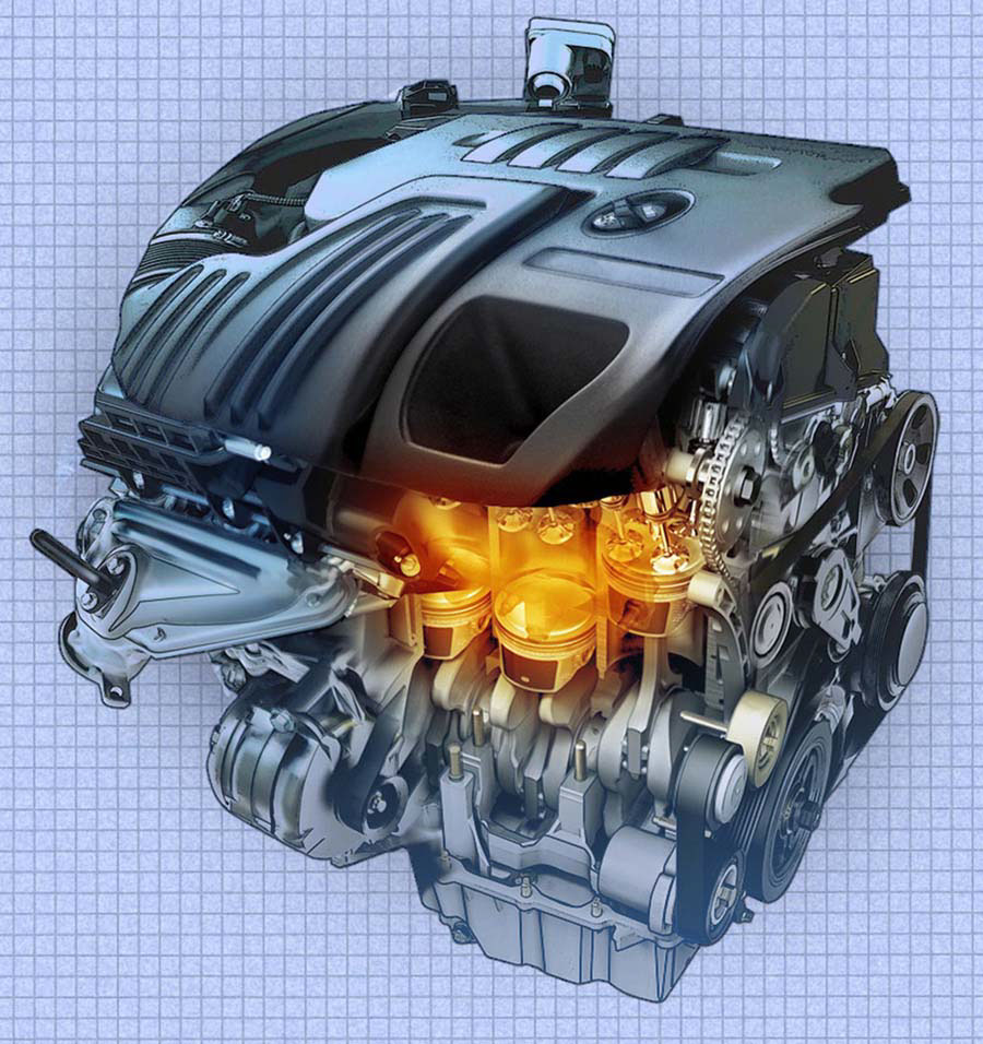 illustration-Technical_Engine cutaway-Tony Randazzo